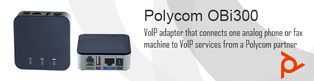 Polycom OBi300 Universal Voice Adapter with USB, 1 FXS port