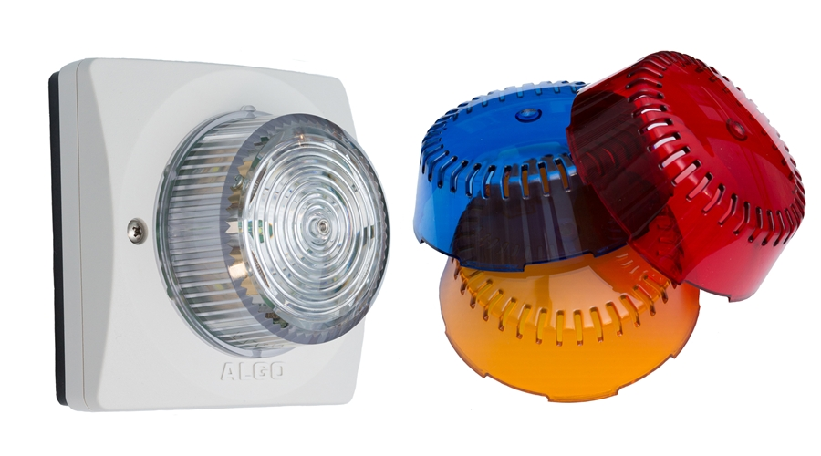 ALGO Analog FXS High Intensity LED Strobe Light with Blue, Amber and Red Lens Cover for Ring Notification