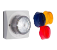 ALGO SIP Strobe Light, IP Strobe, SIP Alerting, Includes Clear, Amber, Blue, and Red Lens Covers (8128ABR)