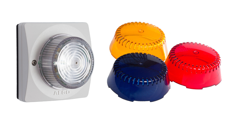 ALGO SIP Strobe Light, IP Strobe, SIP Alerting, Includes Amber, Red and Blue Lens Cover Kit