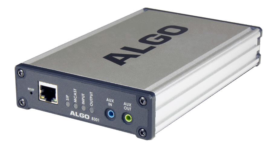ALGO 8301 Wideband IP Voice Paging Adapter & Bell Scheduler
