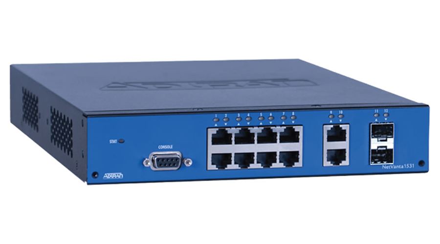 Adtran NetVanta 1531 - Managed, 12-port, Layer 3 Lite, Gigabit Ethernet Switch