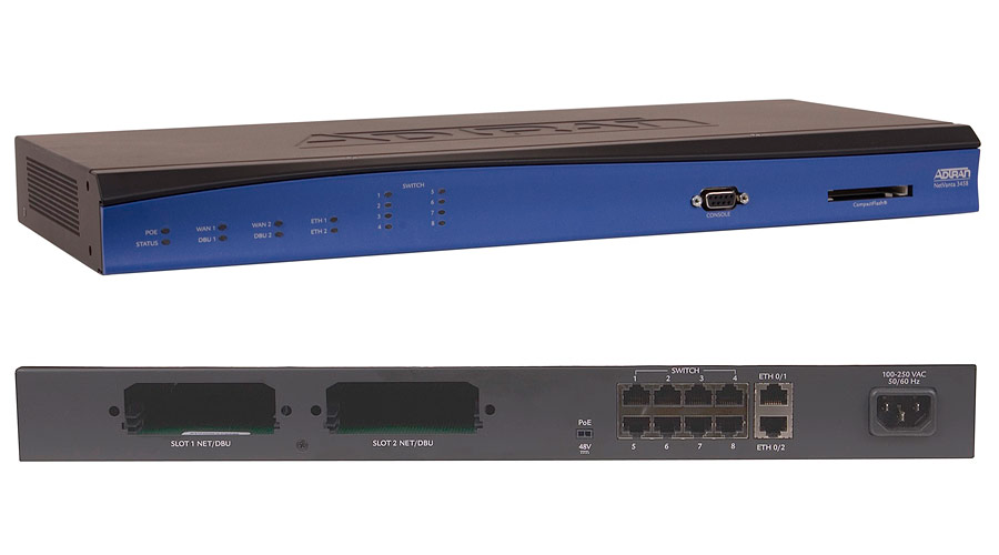 Adtran Netvanta 3458, PoE with Enhanced Feature Pack 120VAC