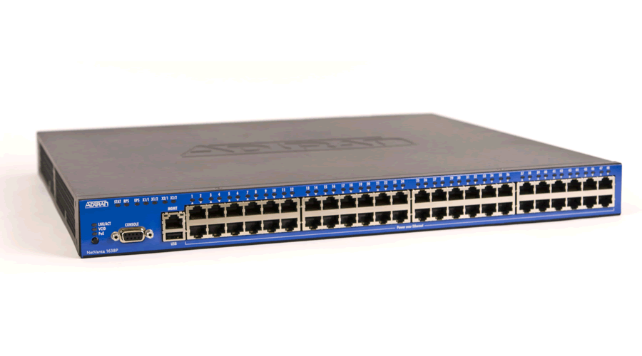 Adtran NetVanta 1638P Managed 48-port PoE Layer 3 Gigabit Ethernet Switch