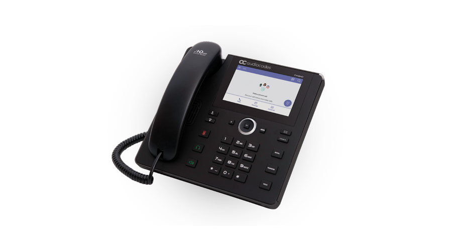AudioCodes TEAMS C450HD IP-Phone PoE GbE with integrated BT and WiFi and an external power supply black