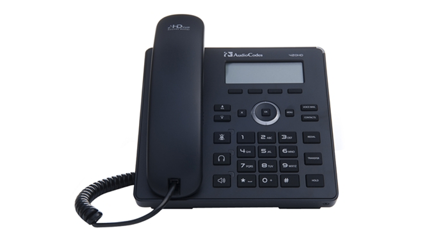 AudioCodes 420HD IP-Phone with Gigabit Ethernet PoE - Includes Power Supply