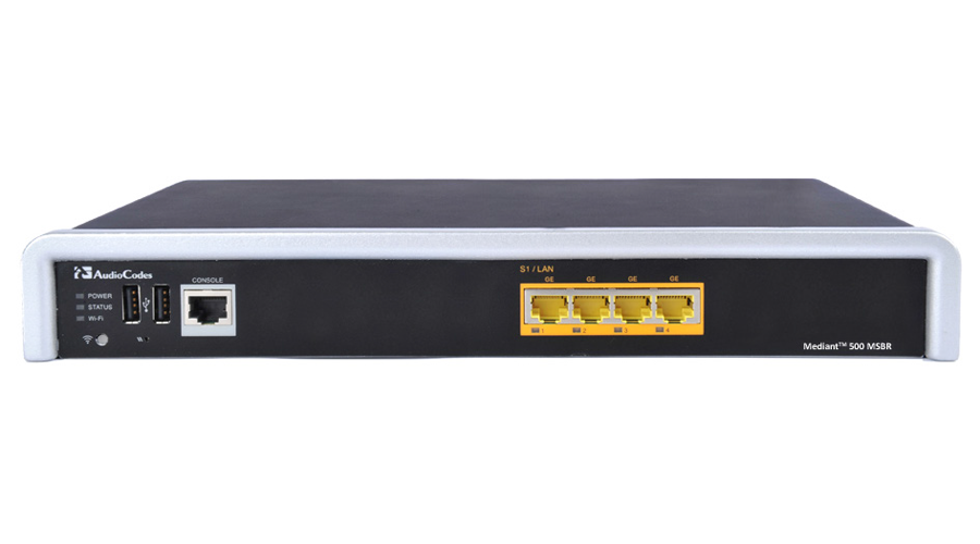 AudioCodes Mediant 500 VoIP Gateway and Enterprise Session Border Controller (E-SBC) with 1 E1/T1 Voice