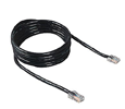 Belkin Cat5E Patch Cable - RJ-45 Male - 25ft - Black Cable (A3L781-25-BLK)