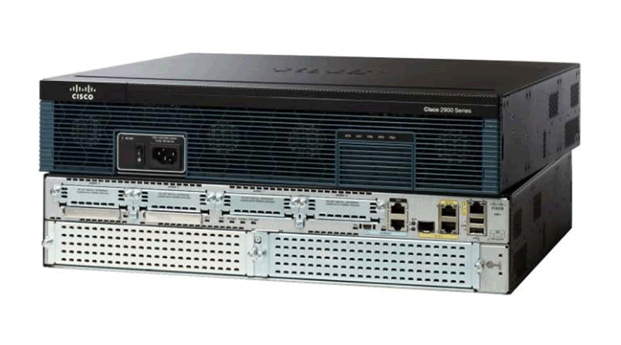 Cisco 2921 Router with 1-Port T1/Fractional T1 DSU/CSU WAN Interface Card