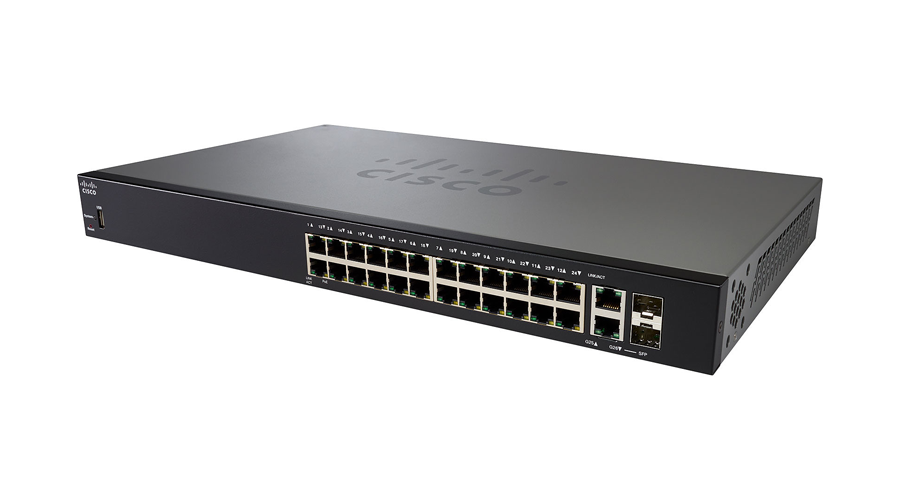 Cisco SF250-24P 24-Port 10/100 PoE+ Smart Switch