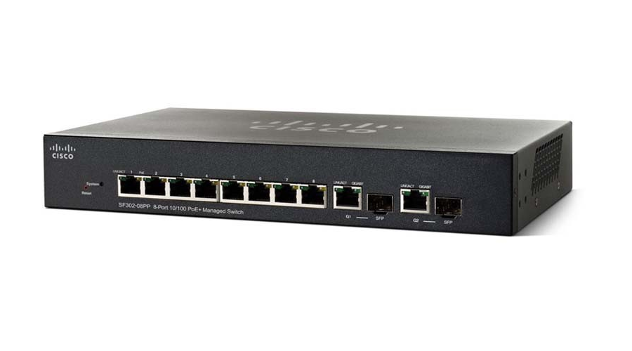Cisco SF352-08 (SF352-08-K9-NA) 8-port 10/100 Managed Switch