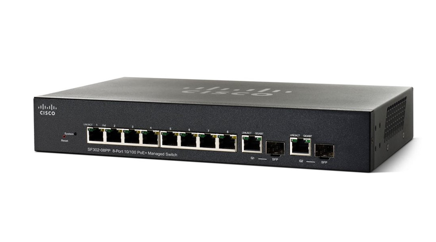 Cisco SF352-08P - 8-port (PoE) 10/100/1000 Managed Switch