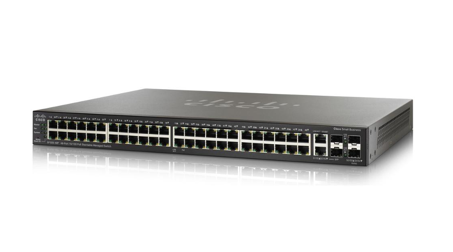 Cisco SF500-48P 48-Port 10/100 PoE Stackable Managed Switch