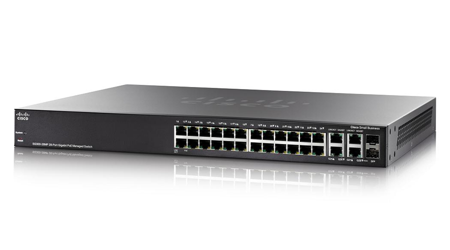 Cisco SG300-28MP (SG300-28MP-K9) 28-port Gigabit Max-PoE Managed Switch