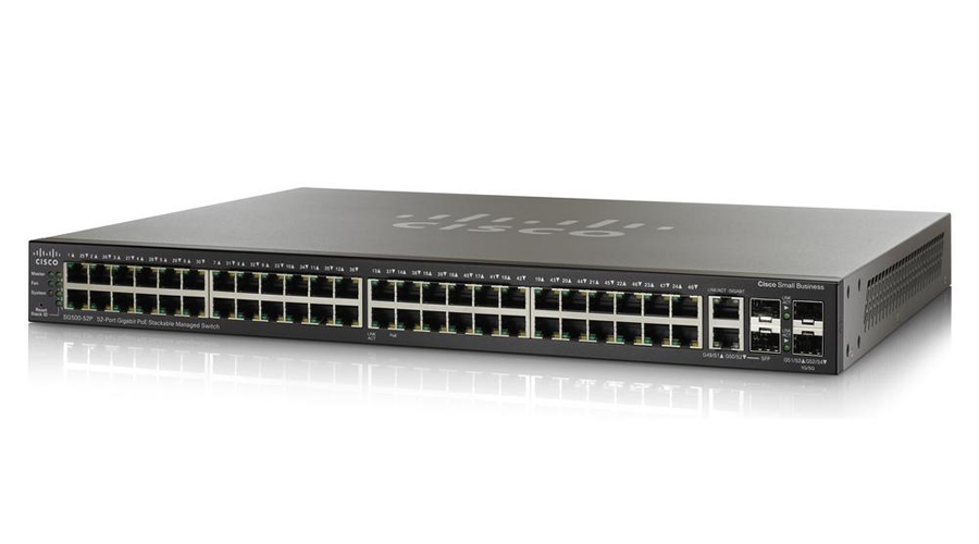 Cisco SG300-52P (SG300-52P-K9) 52-port Gigabit PoE Managed Switch - Open Box