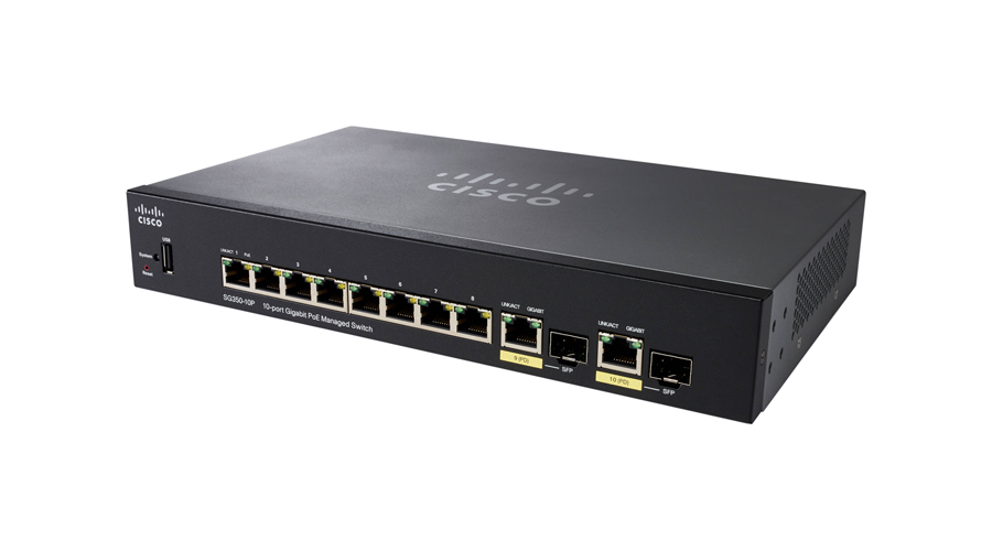 Cisco SG350-10MP (SG350-10MP-K9-NA) 10-Port Gigabit PoE Managed Switch