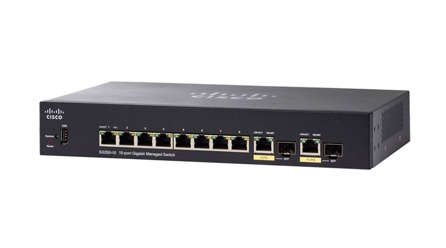 Cisco SG350-10SFP-K9-NA (SG350-10SFP-K9-NA) 10-port Gigabit Managed SFP Switch