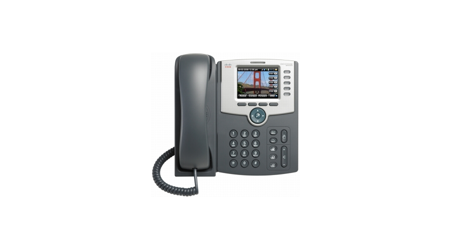 Cisco SPA525G2 5-Line IP Phone - Graphics-rich, High-resolution 3.2-inch QVGA 320 x 240 Color Screen