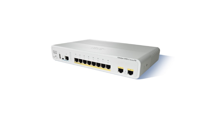 Cisco Catalyst 2960-C PoE Switch 8 FE PoE, 2 x Dual Purpose Uplink, LAN Base