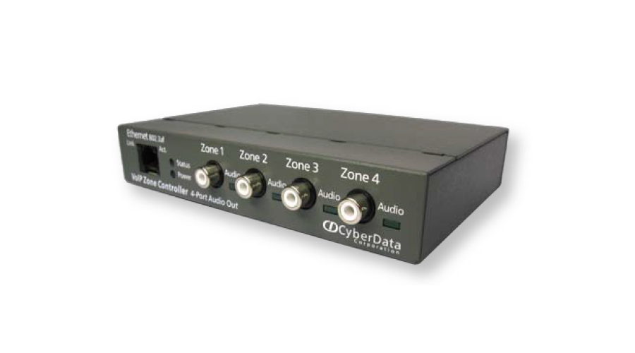 Cyberdata V3 VoIP Zone Controller - 4-Port Audio-Out