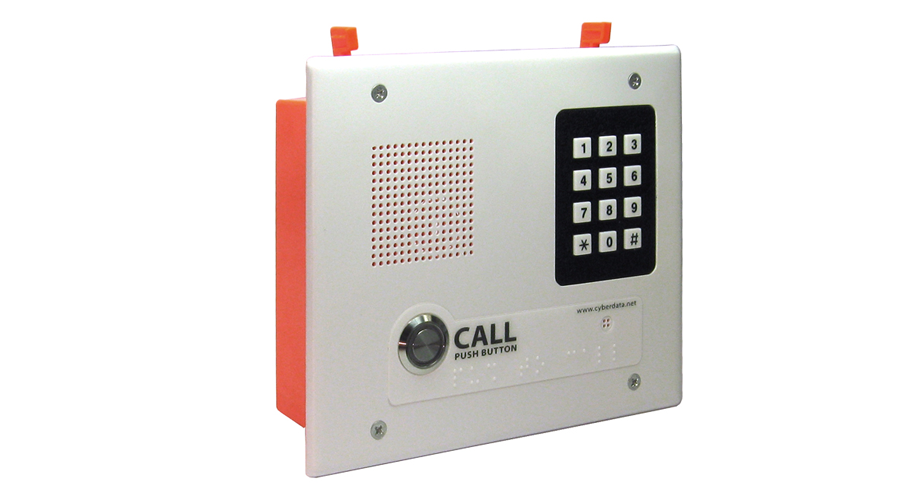 Cyberdata VoIP Indoor Intercom, Singlewire-Enabled, Flush Mount with Keypad