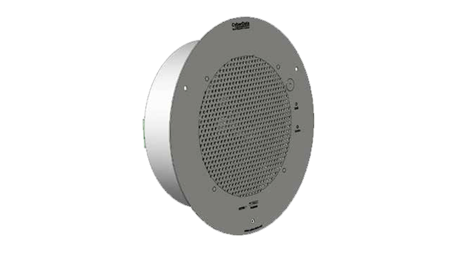 Cyberdata VoIP SIP-enabled Talk-Back Speaker - Gray White