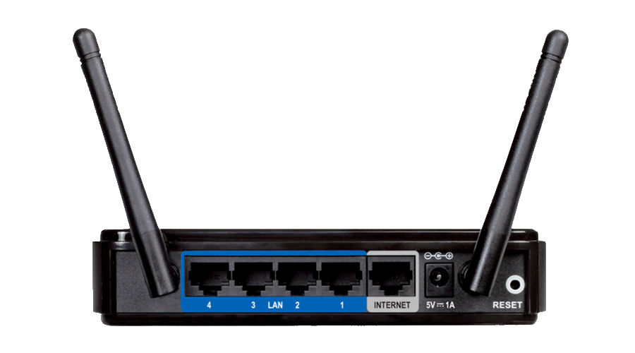 DLink DIR-615 Wireless N300 Router - 4 LAN Ports, 1 WAN Port