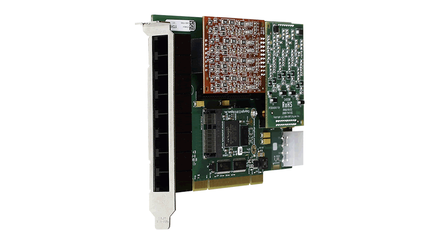 Digium 1A8A06F 8 Port Modular Analog PCI 3.3/5.0V Card with 8 Station Interfaces and HW Echo Can