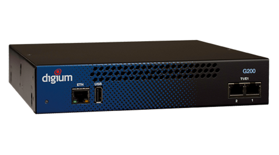 Digium 1G200F Two Span Digital T1/E1/PRI to VoIP Gateway Appliance, North America