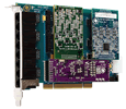 Digium Eight Port Hybrid PCI 3.3/5.0V card with 4 BRI and 4 Station Interfaces (1HA8-0440F)