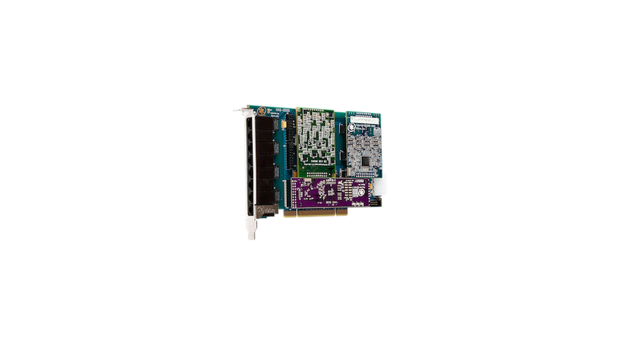 Digium Eight Port Hybrid PCI-Express x1 card with 4 BRI interfaces & Echo Cancellation-Europe