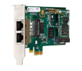 Digium 1TE235BF Two (2) Span Digital T1/E1/J1/Pri PCI-Express X1 Card & HW Echo Cancellation (Vpm064)