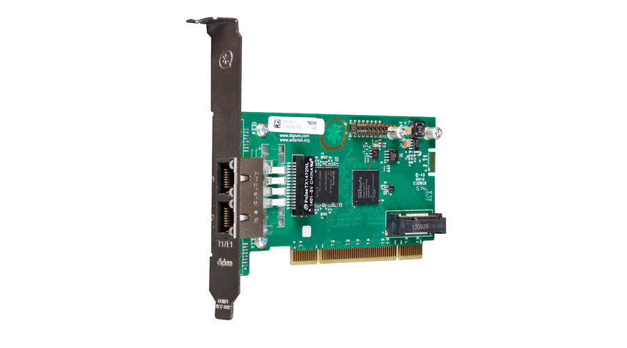 Digium TE236F Two Span Digital T1/E1/J1/PRI PCI 3.3/5.0V Card