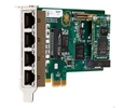 Digium TE435BF Four (4) Span Digital T1/E1/J1/Pri PCI-Express X1 Card and HW Echo Cancellation (Vpm128) (1TE435BF)