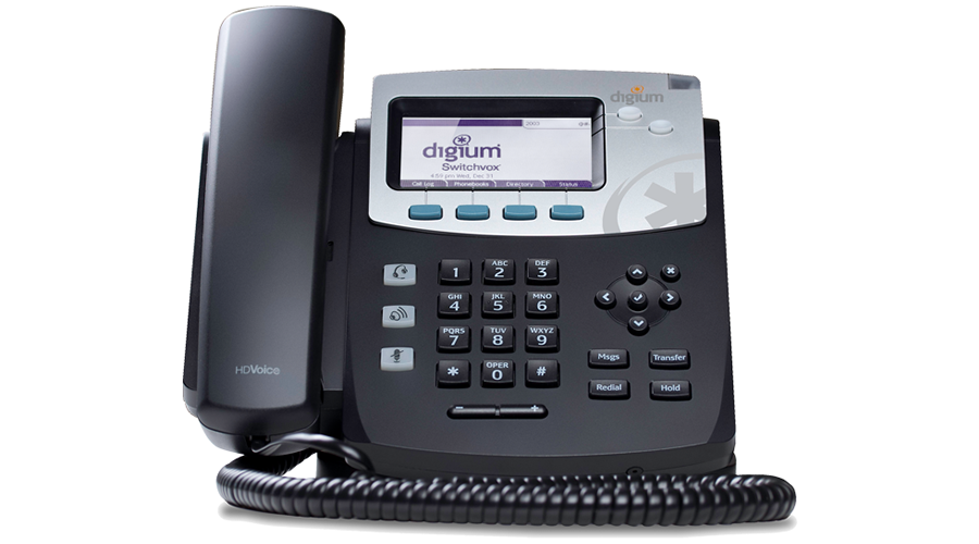 Digium Phone, D40 2-Line SIP with HD Voice, International Version - Power Supply not Included - Open Box