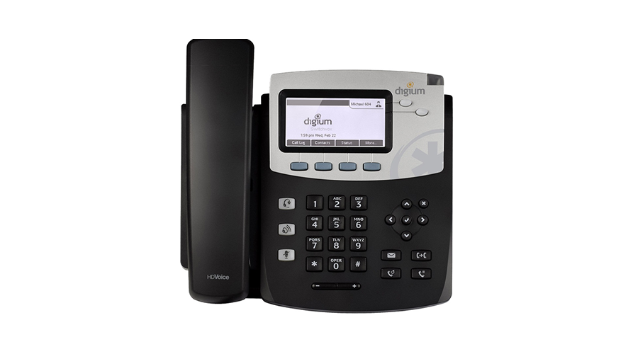 Digium Phone, D45 2-line SIP Phone with HD Voice, Gigabit, Backlit Display  - Power Supply not Included