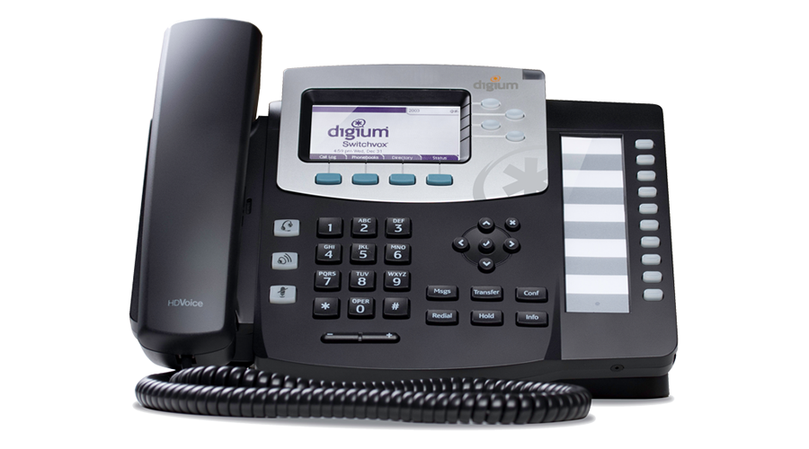 Digium Phone, D50 4-Line SIP with HD Voice, International Version,  - Power Supply not Included - Open Box