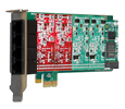 Digium 1A4B06F 4 Port Modular Analog PCI-Express X1 Card with 4 Station Interfaces and HW Echo Can