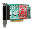 Digium 1A4A04F 4 Port Modular Analog PCI 3.3/5.0V Card with 2 Station and 2 Trunk Interfaces & HW Echo Can