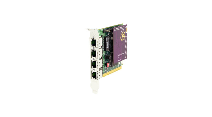 Digium 4 Span Digital T1/E1/J1/PRI PCI Card & HW Echo Can.