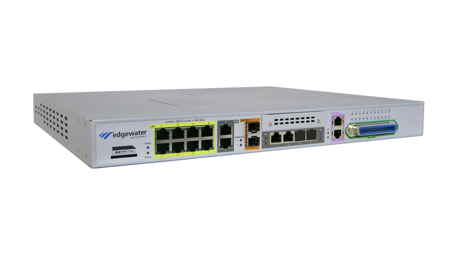 Edgewater Networks 4808: EdgeMarc 100 Intelligent Edge Solution - 2WAN, 8LAN, 22 FXS, 2 FXO and 2 T1/PRI
