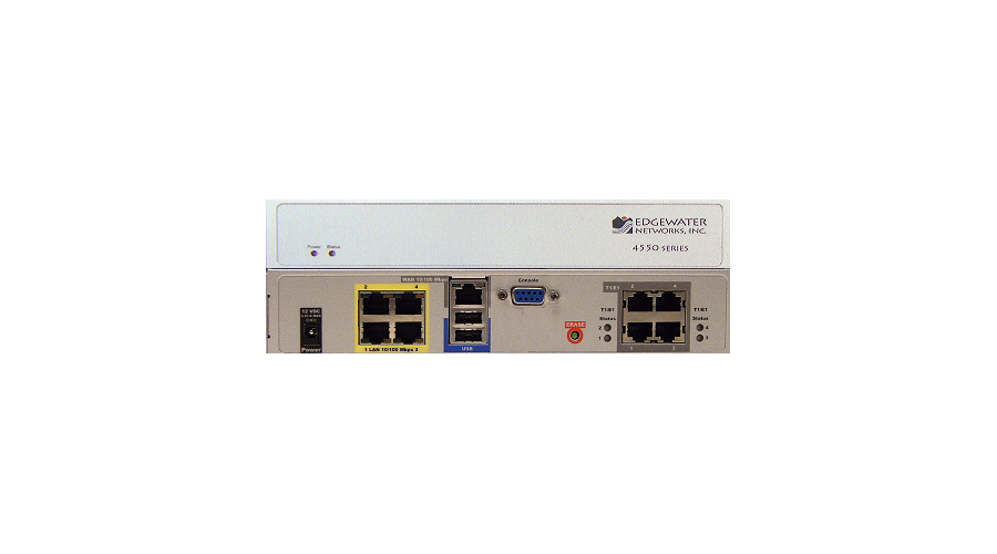 Edgewater Networks EdgeMarc 4552 - VoIP VPN Enterprise Session Border Controller with Single T1 Enabled, 16 WAN Calls
