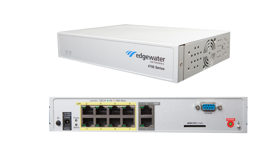 Edgewater Networks 4750 EdgeMarc Enterprise Session Border Controller - 8 LAN, 2 WAN - 30 Concurrent Calls - Open Box