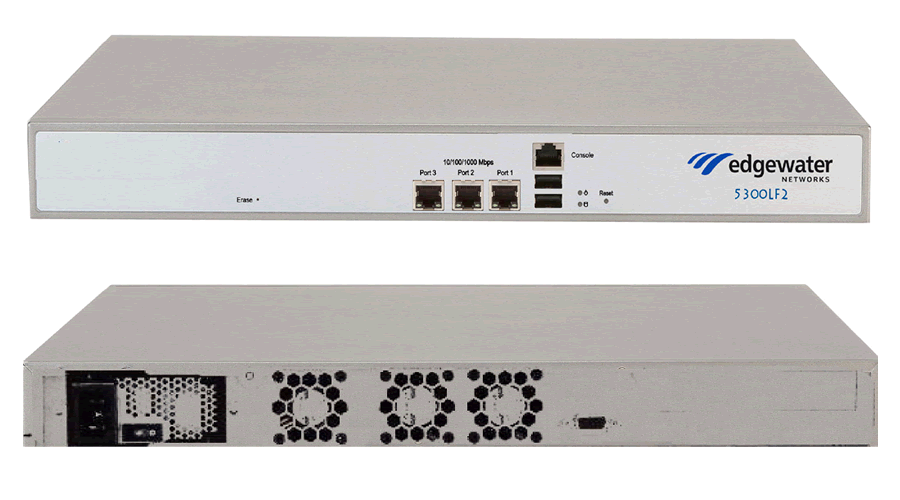 Edgewater Networks EdgeProtect 5300LF2 Enterprise SBC supporting 300 TLS sessions, 300 VoIP calls, 25Mbps SIP Video