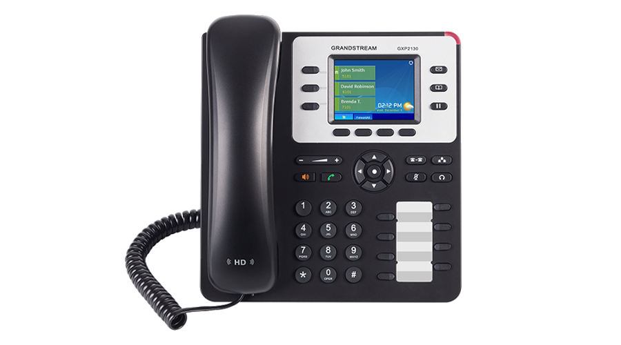 Grandstream GXP2130 3-Line Enterprise HD IP Phone - Includes Power Supply - Open Box