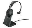 Jabra (GN Netcom) Evolve2 65 Over-the-Head Wireless Monaural Headset - Bluetooth with Stand (26599-899-989)