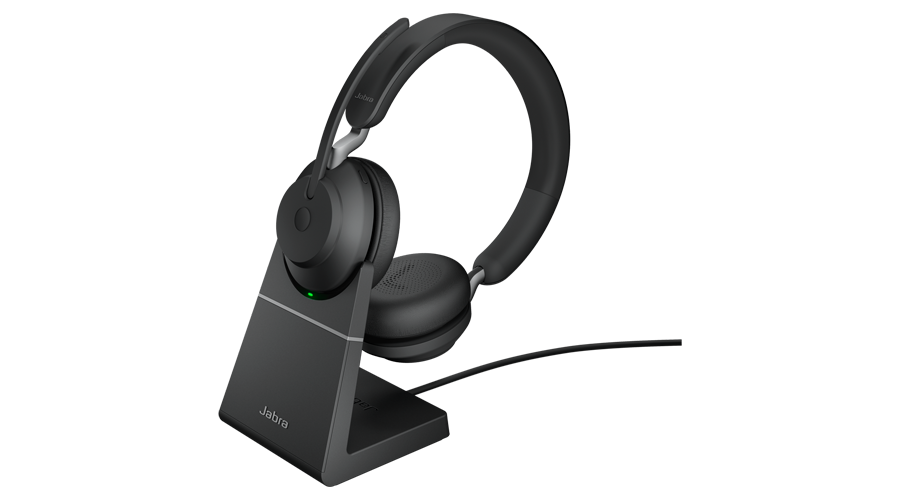 Jabra (GN Netcom) Evolve2 65 Over-the-Head Wireless Binaural Headset - Bluetooth with Stand