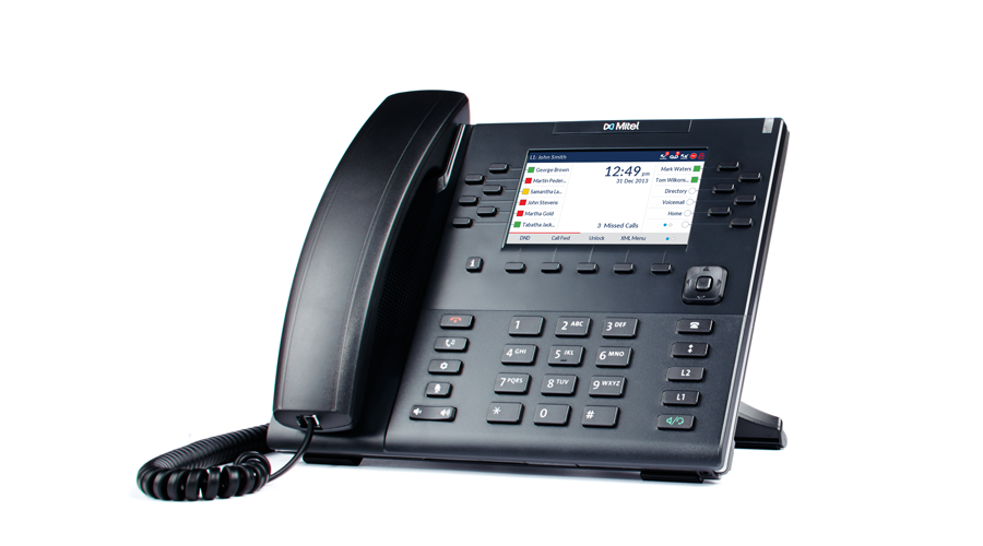 Mitel 6869 - 12-Line SIP Desktop Phone with 4.3 color LCD display  - Does Not Include Power Supply