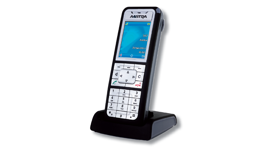 Mitel 612d DECT Business Phone - Charcoal & Silver