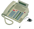 Mitel Meridian M5216 Business Set Phone with Display and Headset Capability - Ash